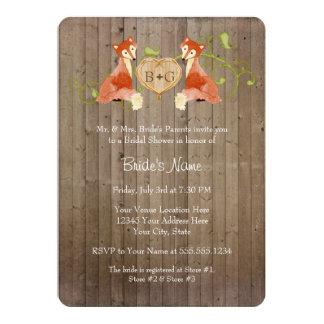 Criaturas animales del arbolado, bodas de las invitación 12,7 x 17,8 cm