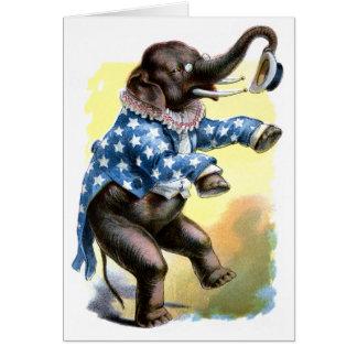 Criaturas curiosas - elefante tarjetas