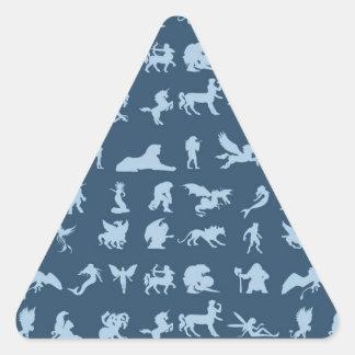 Criaturas de la mitología pegatina triangular