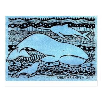 Criaturas del mar postales