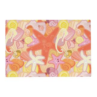 Criaturas en colores pastel del mar tapete individual