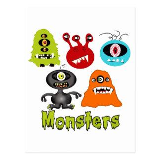 Criaturas fantasmagóricas asustadizas de los extra postales