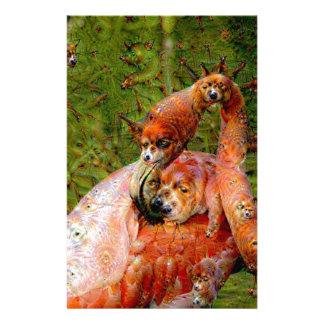 Criaturas ideales, flamenco, DeepDream Papeleria