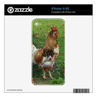 Criaturas ideales, gallo, DeepDream iPhone 4 Skin
