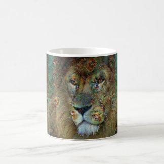 Criaturas ideales, león, DeepDream Taza Clásica