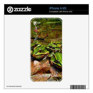 Criaturas ideales, rana, DeepDream Calcomanías Para iPhone 4S