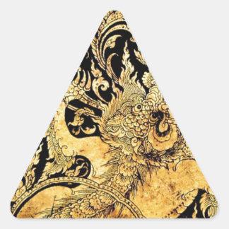 Criaturas míticas de Tailandia Pegatina De Triangulo Personalizadas