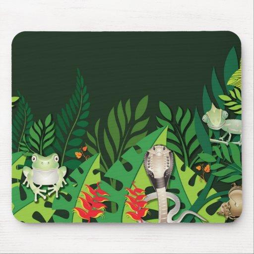 Criaturas Mousepad de la selva tropical Alfombrillas De Raton