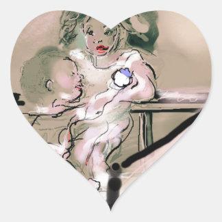Crib Catch Vintage Style Heart Sticker