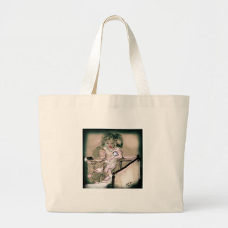 Crib Catch Vintage Style Large Tote Bag