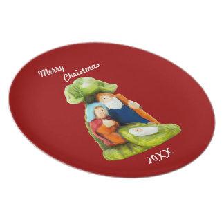 Crib Christmas Plate Template