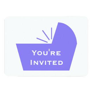Crib Icon Baby Shower 5x7 Paper Invitation Card