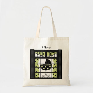 Crib in a Window Tote Bag