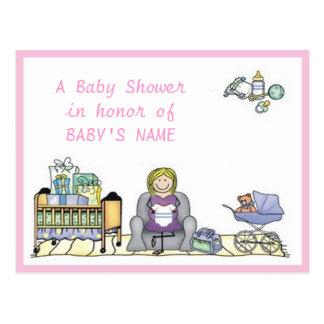 Crib & Stroller Baby Shower Invitation Postcards