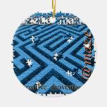 Criba del laberinto del rompecabezas ornamento de navidad