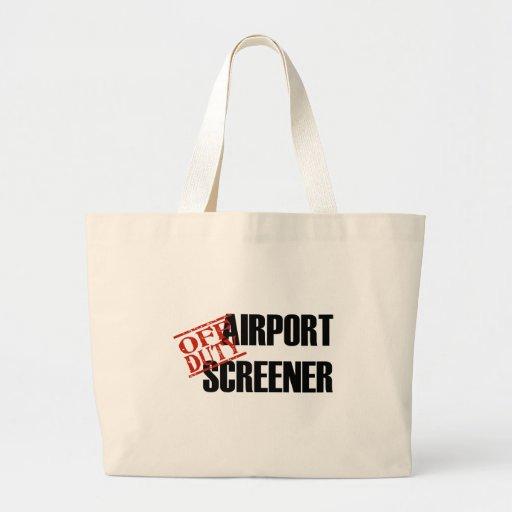 Cribador del aeropuerto bolsas lienzo