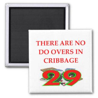 CRIBBAGE 2 INCH SQUARE MAGNET
