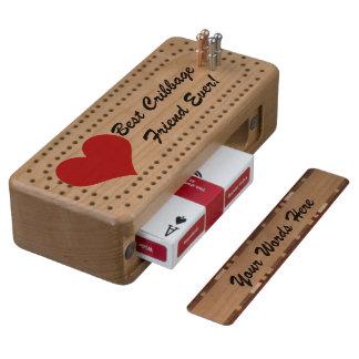 Cribbage Best Cribbage Friend Ever Wood Cribbage Board