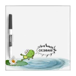 Cribbage Frog Dry-Erase Board