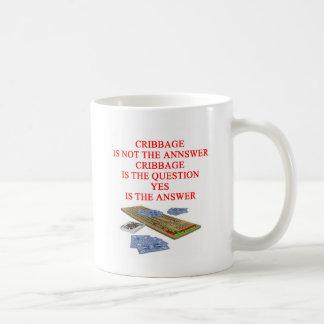CRIBBAGE joke Coffee Mug