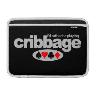Cribbage Player custom iPad / laptop sleeve Sleeves For MacBook Air