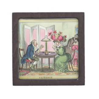 Cribbage, publicado por Thomas McLean, Londres (co Cajas De Regalo De Calidad