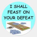 cribbage round stickers