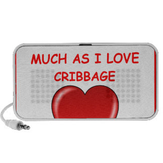 cribbage iPod speakers