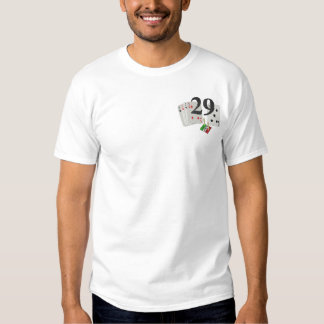 Cribbage- The Perfect Hand Embroidered T-Shirt