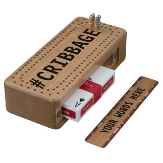 #Cribbage Wood Cribbage Board