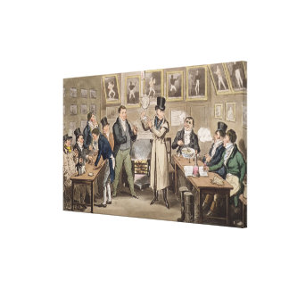 Cribb's Parlour: Tom introducing Jerry and Logic t Canvas Print