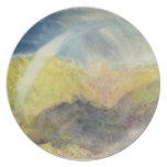 Crichton Castle (Mountainous Landscape with a Rain Dinner Plates