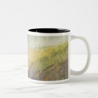 Crichton Castle (Mountainous Landscape with a Rain Two-Tone Coffee Mug
