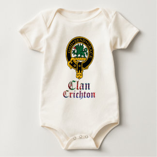 Crichton Scottish Crest Tartan Clan Name Clothes Baby Bodysuit