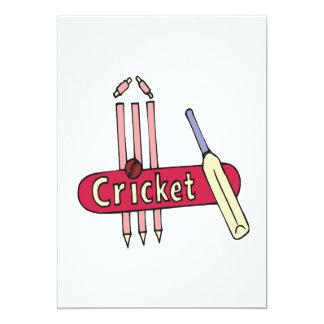Cricket 7 5x7 paper invitation card
