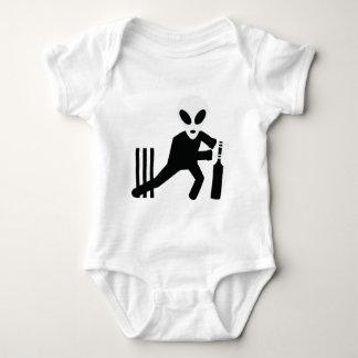 cricket alien icon baby bodysuit