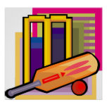 Cricket Art Poster