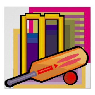 Cricket Art Poster print