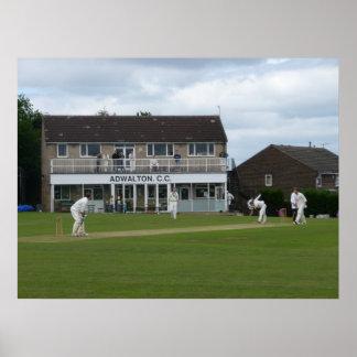 Cricket at Adwalton Poster