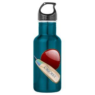 Cricket Ball and Bat Sports Water Bottle