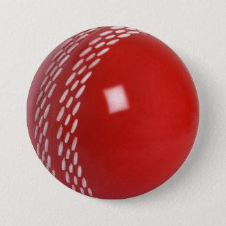 Cricket Ball Badge Button