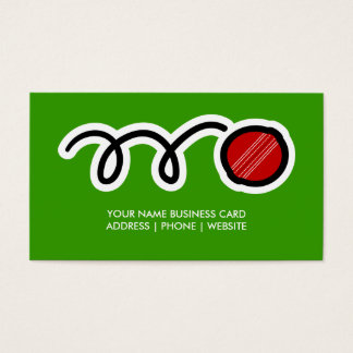 Cricket ball business card design