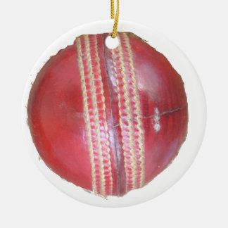 Cricket BALL Ceramic Ornament