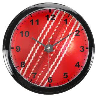 """""""Cricket Ball"""" design wall clocks Aquarium Clock"""