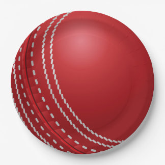 Cricket Ball Father's Day Party Paper Plate