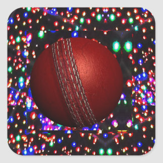 Cricket Ball Game Player Bowler Wicket Keeper Bat Square Sticker