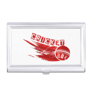 Cricket Ball Hit For Six Business Card Case