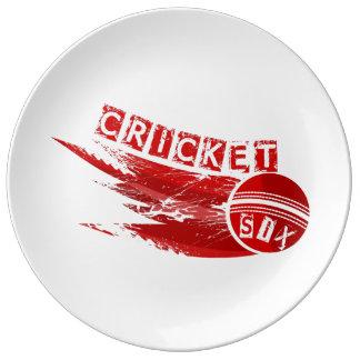 Cricket Ball Hit For Six Dinner Plate
