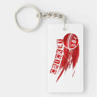Cricket Ball Hit For Six Keychain
