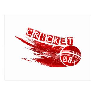 Cricket Ball Hit For Six Postcard
